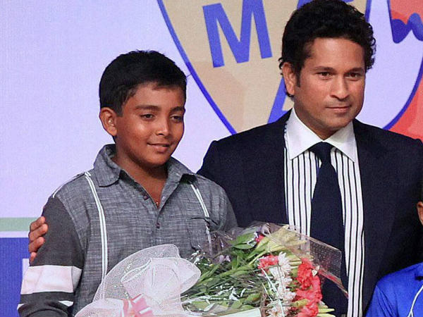 Ranji Trophy 17 Year Old Prithvi Shaw Hits Ton Joins Elite With Sachin