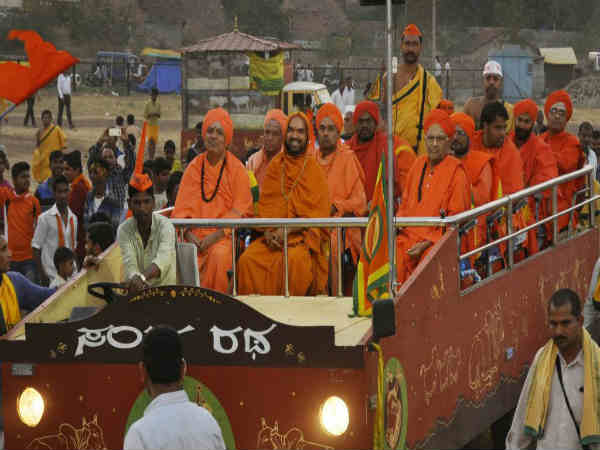 Raghaveshwara Seer of Ramachandrapura Mutt message on Goyatra at Hukkeri