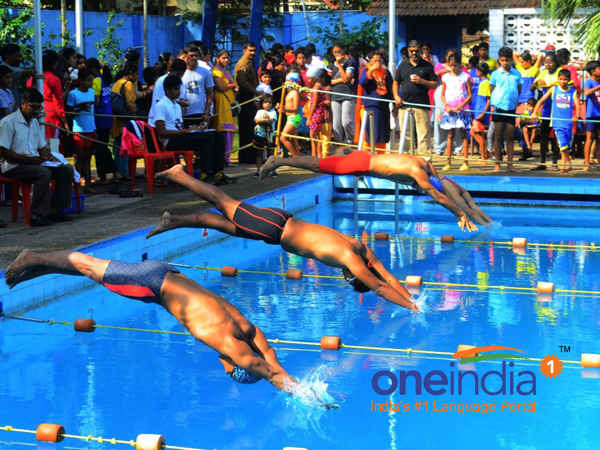 Mangaluru city corporation organises Swimming competition for school students