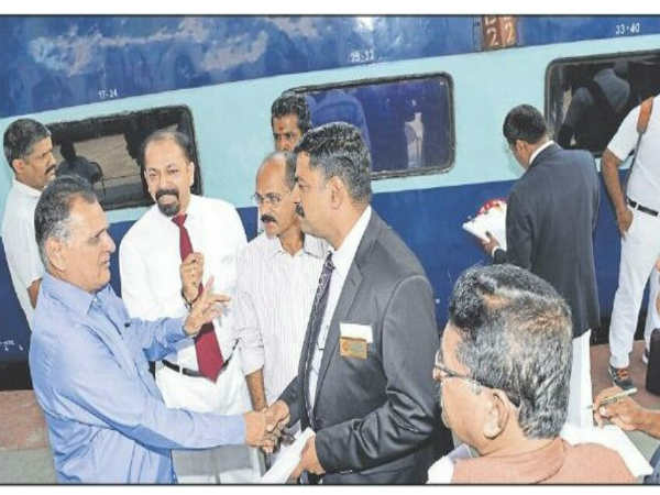 Anoop Kumar is the first Train Captain of Mangaluru Central-Chennai Central Super Fast Mail