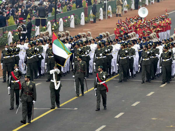 UAE troops take part in Republic day parade