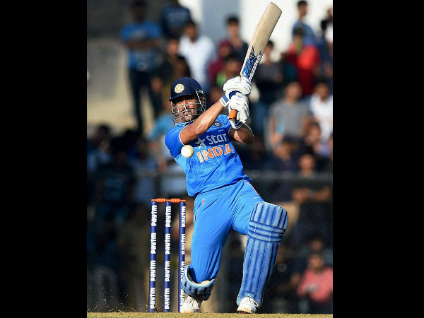 Dhoni became the fifth player to hit 200 sixes in ODIs