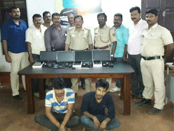 The Kankanady police have arrested two persons in connection with the theft case