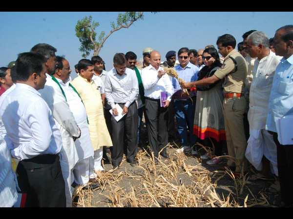 Central Draught Committee Will Visits To Hubballi And Gadag Taluk Drought Villages