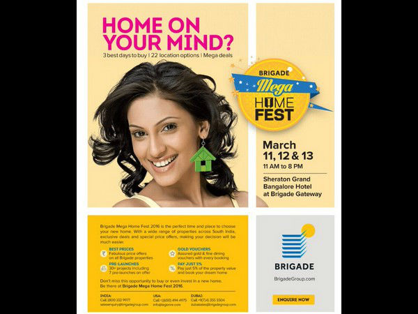 Brigade Group organized Mega Home Fest held at Bengaluru from feb 10 to 12