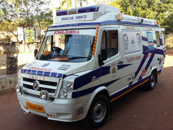 108 Ambulance show carelessness to help the accident victims in Mangaluru
