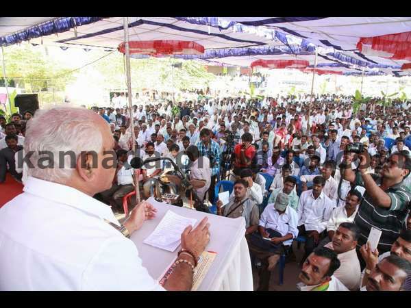 I have come here to celebrate not for campaign: BSY