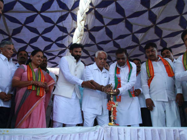 BS Yeddyurappa starts Nanjangud by-election campaign for BJP