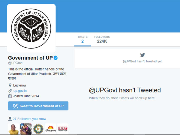 UP government's social media activities vanish