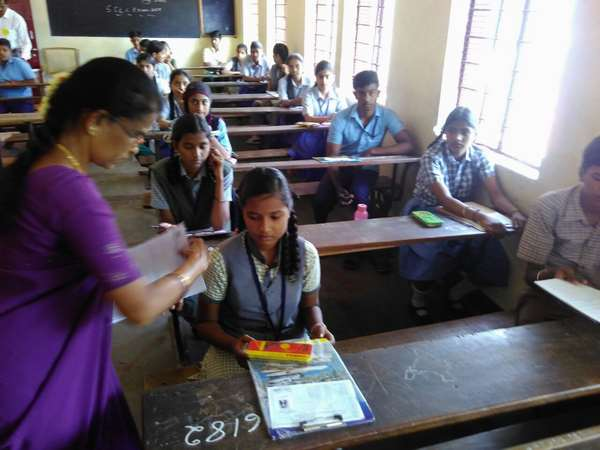 SSLC examination in Mysuru: students are enthusiastic to write exam.