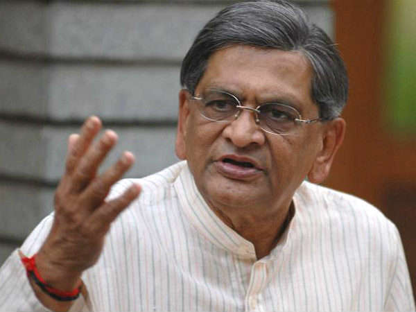 S M Krishna visits Malai Mahadeshwar temple with wife