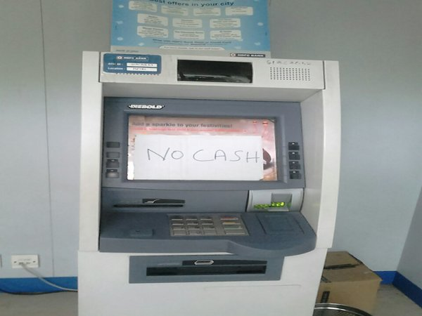 Sorry no cash, atm out of order
