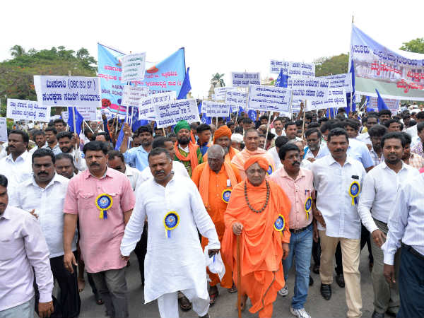 Safeguard reservation: Dalit Employees Association stages protest in Mysuru