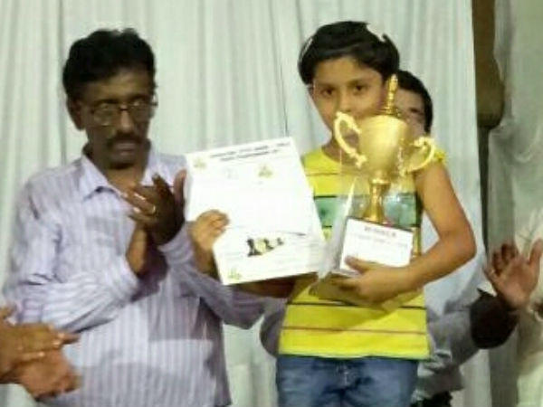 6 year old Mangalorean Shriyana Mallya won state level chess championship