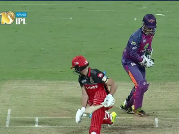 IPL 2017: Lightning fast stumping from MS Dhoni ABD wicket