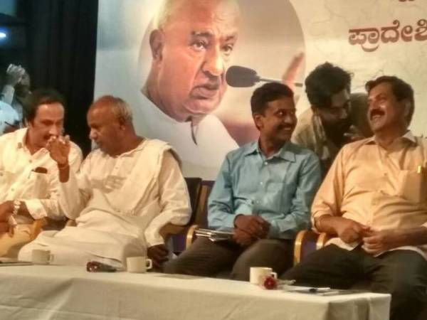 Why should I cut the cake when farmers are committing suicide?' : HD Deve Gowda