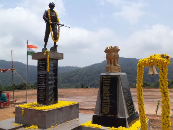 Soldier's statue installed in Coorg