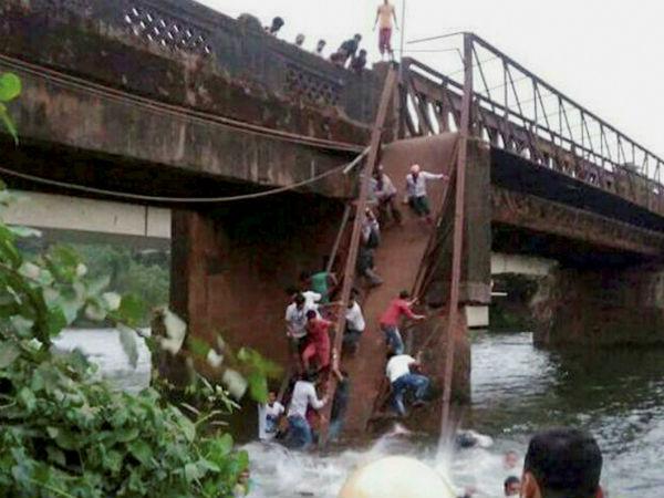 Dead 30 Missing As Bridge Collapses In Goa