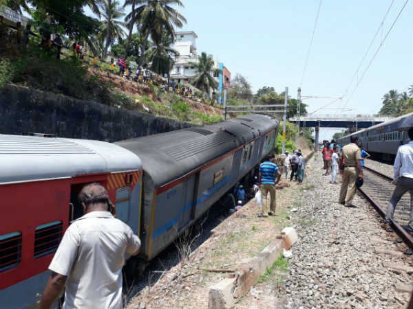 chennai mangalore express train derailed in Mangaluru