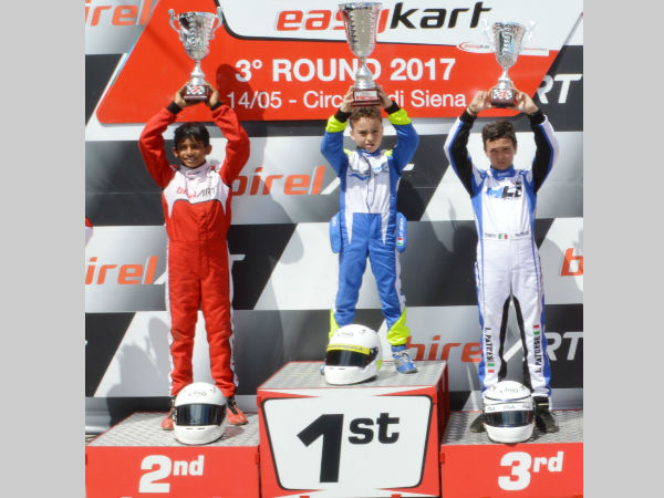 Bengaluru 10 Year Old Boy Ruhaan Alva Finishes 2nd Italy Easykart