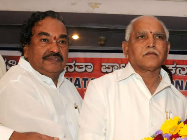 BSY and KS Eshwarappa joins hands on party worker request