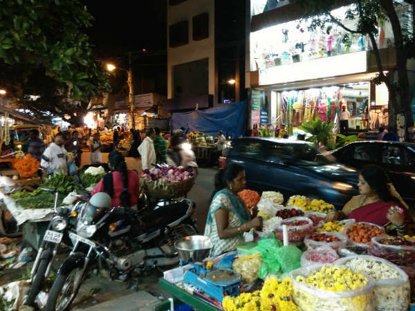 The ever lively vegetable market of Jayanagar 9th block