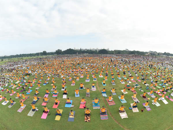 20 thousand peoples performed yoga at race course Mysuru on Sunday