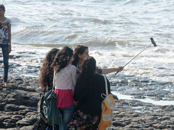 Selfie with the roaring waves in Mangaluru is too dangerous