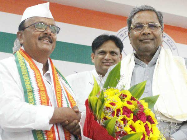 Aland Kjp Mla Br Patil Joined Congress