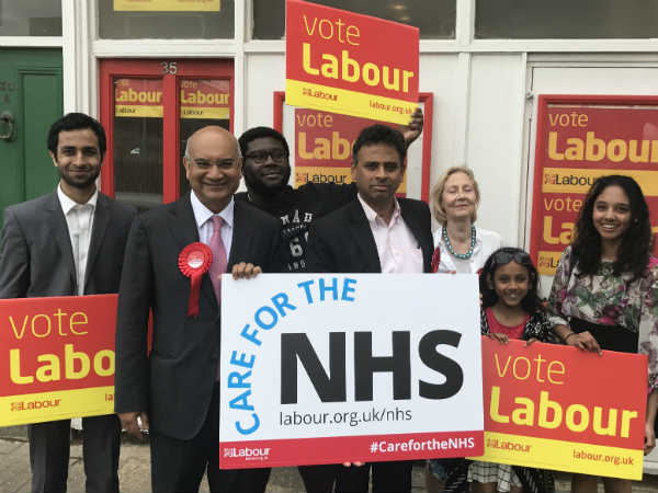 Keith Vaz campaigns for Kannadiga Dr Neeraj Patil in Putney constituency
