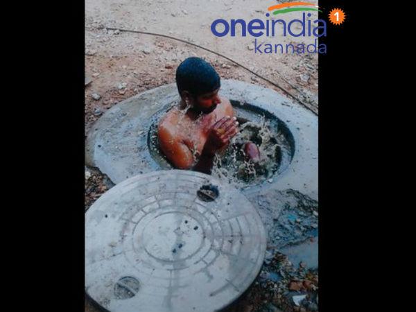 ಮೈಸೂರು: ಪೌರ ಕಾರ್ಮಿಕನನ್ನು ಮ್ಯಾನ್ ಹೋಲಿಗಿಳಿಸಿದ್ದ ಗ್ರಾ.ಪಂ ಅಧ್ಯಕ್ಷೆ ವಜಾ