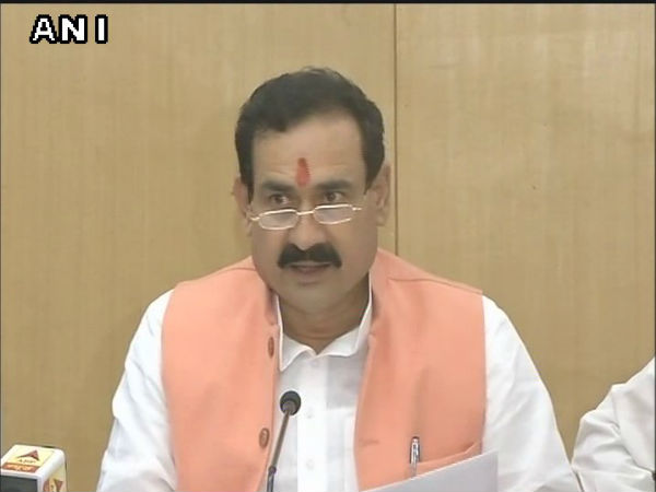 Election Commission Disqualifies Mp Minister Narottam Mishra For 3 Years