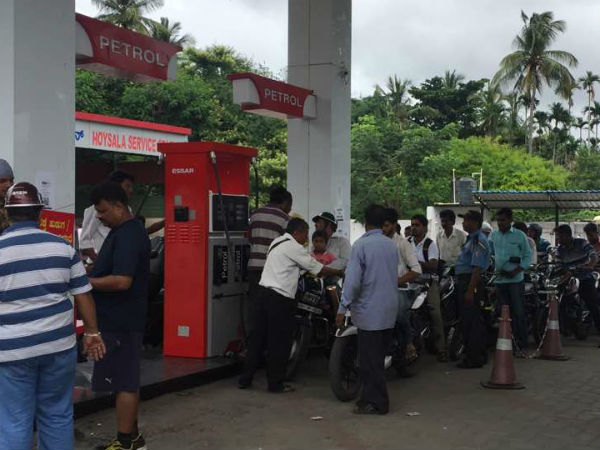 Petrol pumps shut down in Mysuru, Mandya, Chamarajanagar