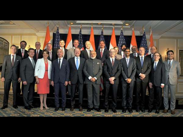 Pm Modi Meets Us Ceos Growth Of India A Win Deal For Both Nations
