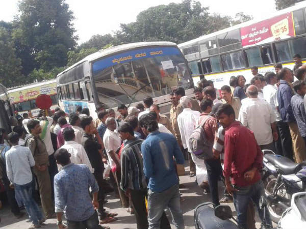 Ticket Collector Throws Plate Of Bus Driver In Mysuru