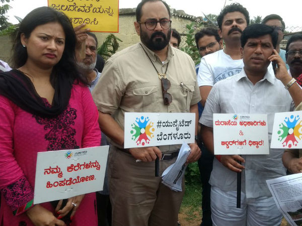 MP Rajeev Chandrasekhar with United Bengaluru in save lake campaign