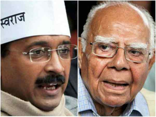 Settle Rs 2 crore dues, Jethmalani tells Kejriwal while quitting as his counsel