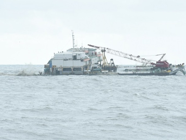 Barge at Ullal is still at the sot though its 55 days for now
