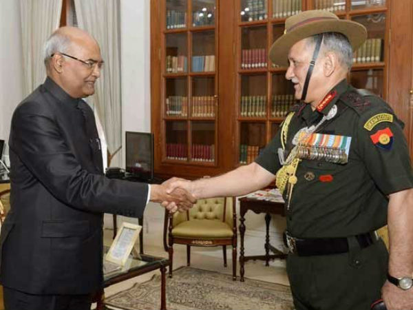 Chief Army Staff General Bipin Rawat Meeta President Of India Ram Nath Kovind
