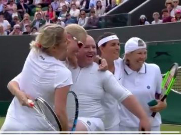 Kim Clijsters Makes Male Fan Put On White Skirt