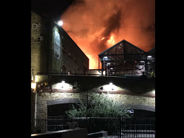 Major Fire At London S Camden Lock Market