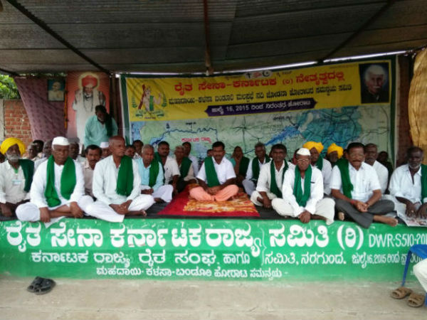 Raitha sangha president's indefinite hunger strike reached 6th day in Gadag