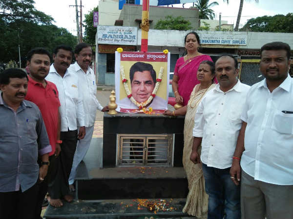 Dharam Singh's death: Condolence in many places of Mysore