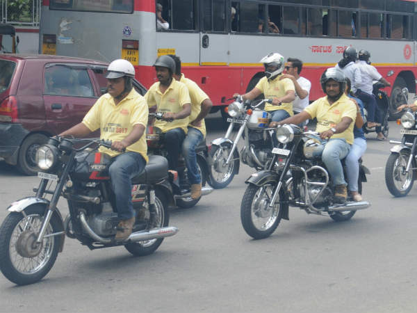 Java bike rally in Mysore City