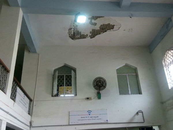 Mangaluru Central railway station roof falls down - many injured
