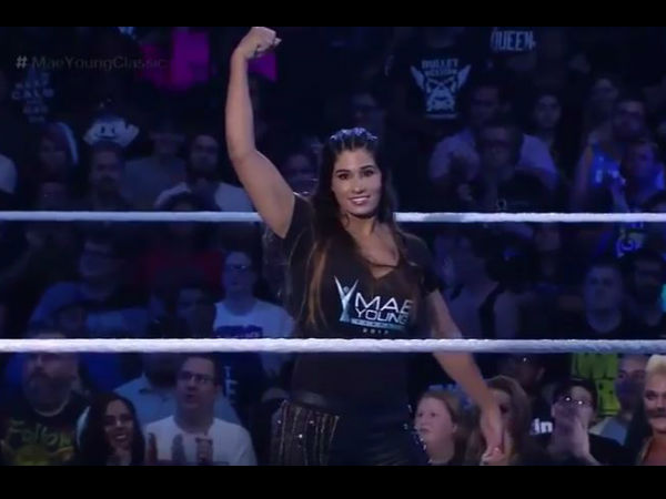 Wwe Indian Origin Kavita Devi Wrestles Her First Match Mae Young Classic