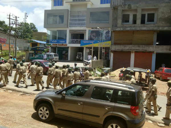 Chikkamagaluru Tight Security In Mudigere Ahead Of Kalladka Prabhakar Bhat Visit