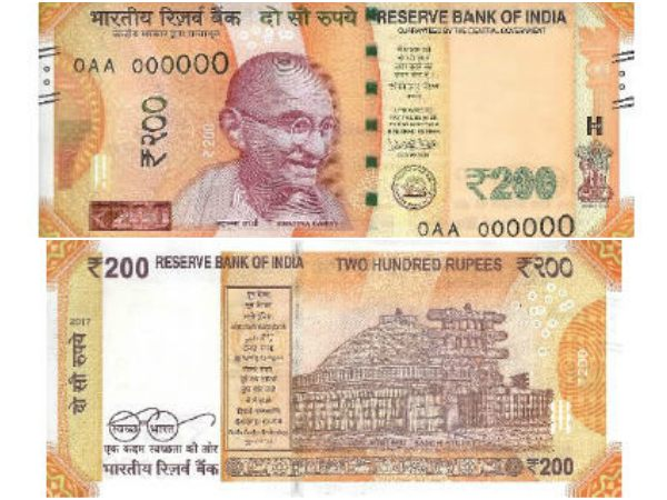 Reserve Bank of India to issue notes in denomination of Rs. 200 tomorrow.
