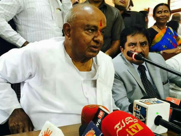 No Alliance In 2018 Assembly Election Says Hd Deve Gowda