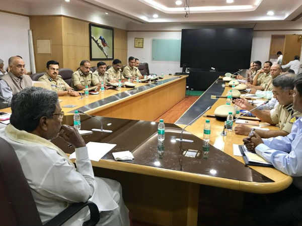 Cm Reviews Police Security For Gowri Ganesha Festival And Bakrid